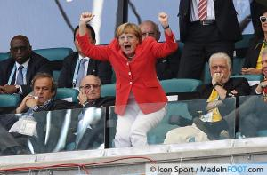 Coupe du Monde foot 2014 Merkel