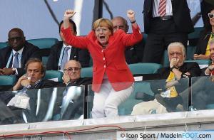 Coupe du Monde foot 2014 Merkel